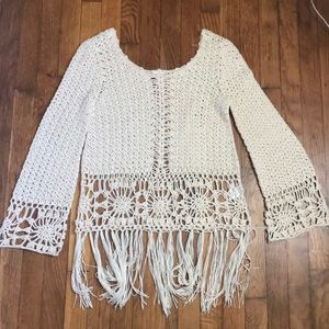 Altard State fringe sweater, size small